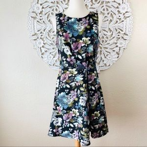 {Skies Are Blue} Floral Twist Waist Dress